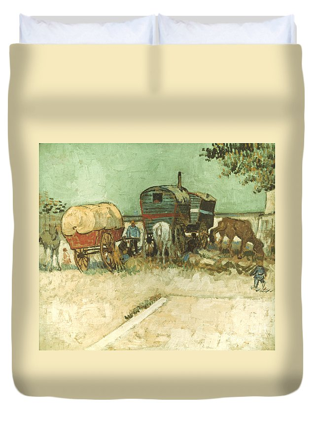 1888 Duvet Cover featuring the photograph Van Gogh: Gypsies, 1888 by Granger