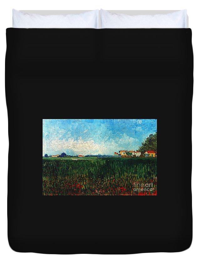 1888 Duvet Cover featuring the photograph Van Gogh: Landscape, 1888 by Granger