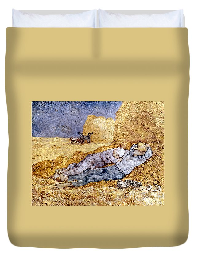 1890 Duvet Cover featuring the photograph Van Gogh: Noon Nap, 1889-90 by Granger