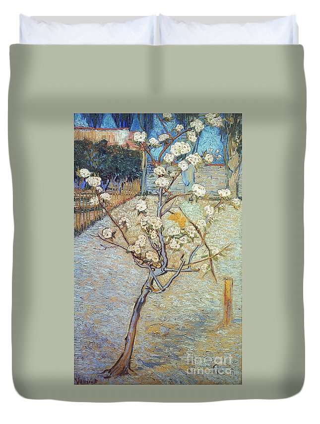 1888 Duvet Cover featuring the photograph Van Gogh: Peartree, 1888 by Granger
