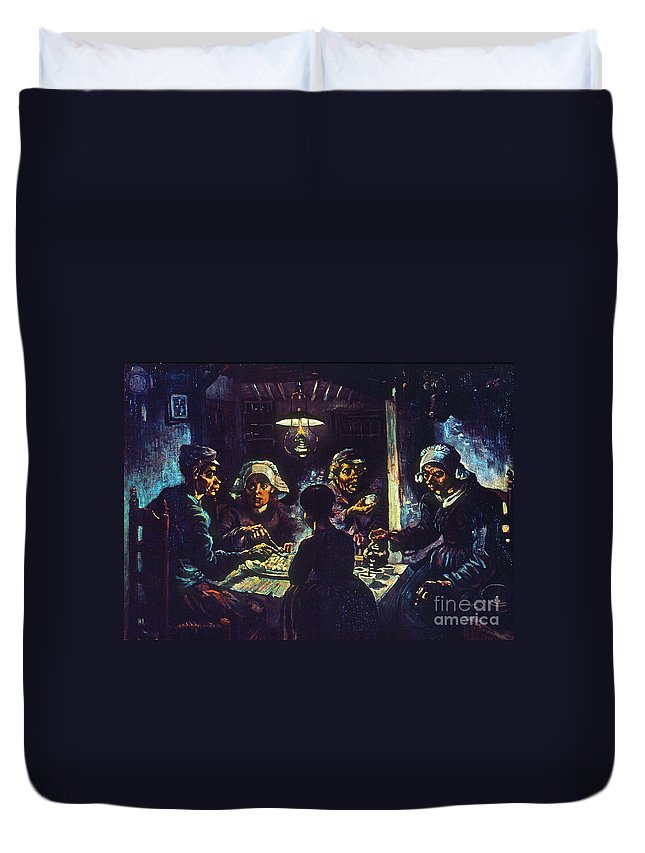 1885 Duvet Cover featuring the photograph Van Gogh Potato Eaters by Granger