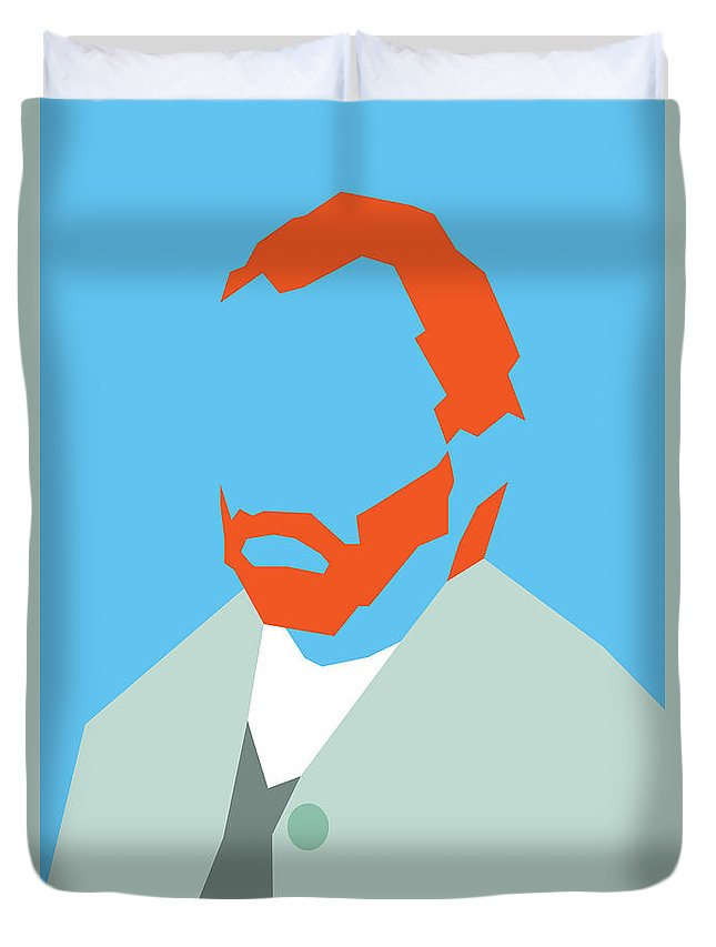 Home Duvet Cover featuring the drawing Van Gogh by Rafael Gomes