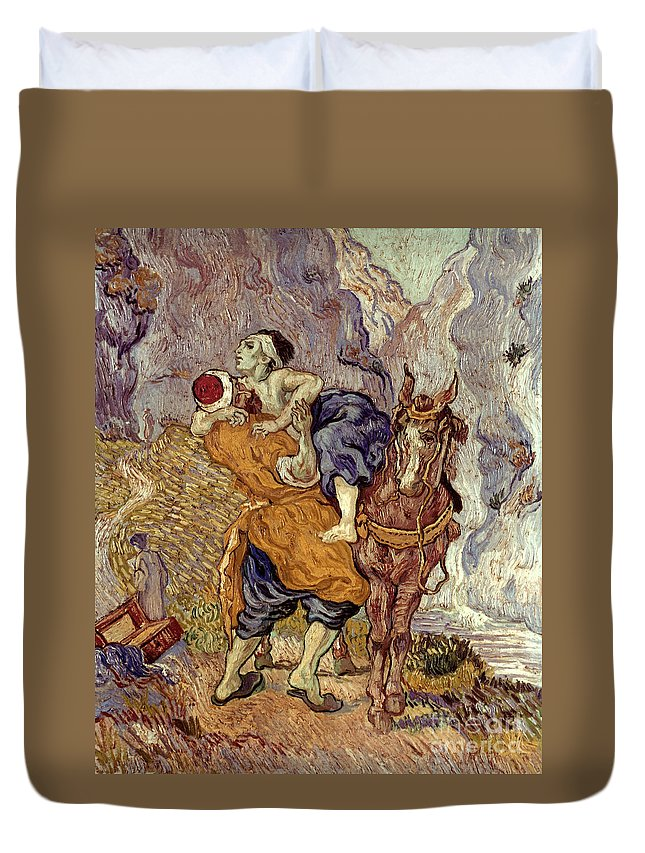 1890 Duvet Cover featuring the photograph Van Gogh: Samaritan, 1890 by Granger