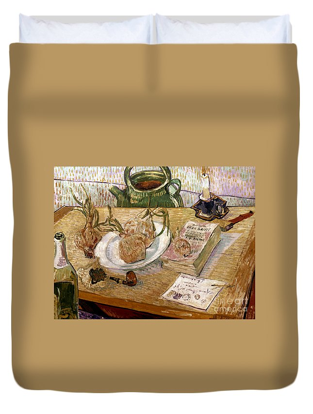 1889 Duvet Cover featuring the photograph Van Gogh: Still Life, 1889 by Granger
