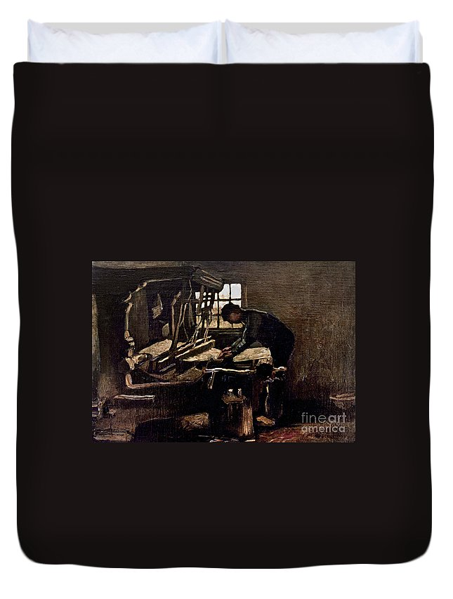 1884 Duvet Cover featuring the photograph Van Gogh: Weaver, 1884 by Granger