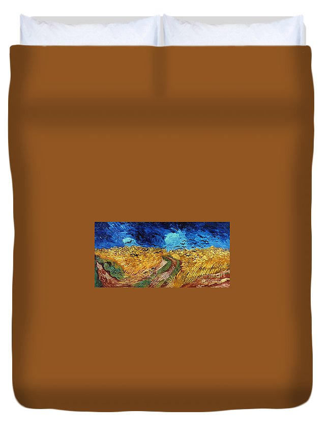 1890 Duvet Cover featuring the photograph Van Gogh: Wheatfield, 1890 by Granger