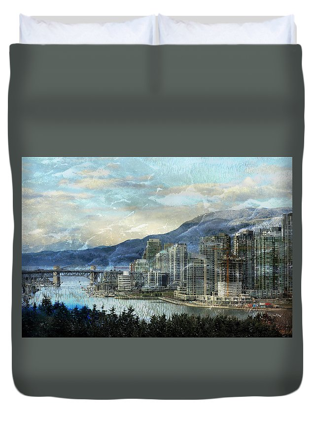 Vancouver Duvet Cover featuring the photograph Vancouver-1 by Ed Hall