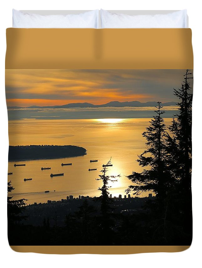 Nature Duvet Cover featuring the photograph Vancouver by Lisa Spero