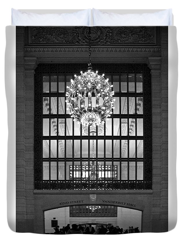 Bradley Duvet Cover featuring the photograph Vanderbilt Hall by Rich Despins