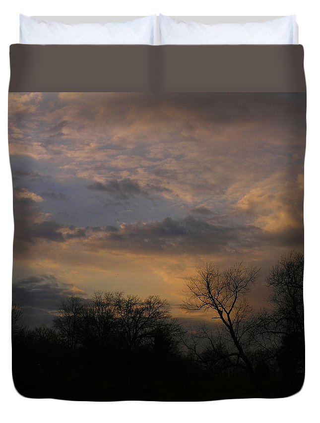 Sky Duvet Cover featuring the photograph Vantage Point by Albert Stewart