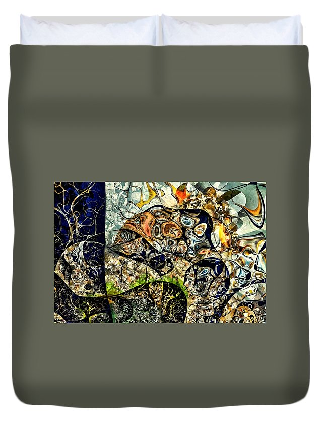 Kardinsky Abstract Graphics Duvet Cover featuring the digital art variation of Kardinsky by FerryW