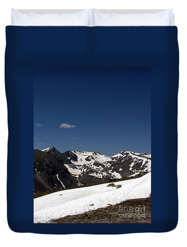 Colorado Duvet Cover featuring the photograph Vast Mother by Amanda Barcon