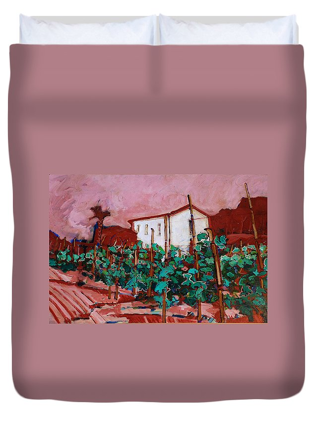 Tuscany Duvet Cover featuring the painting Vecchio Casa Di Pietro by Kurt Hausmann