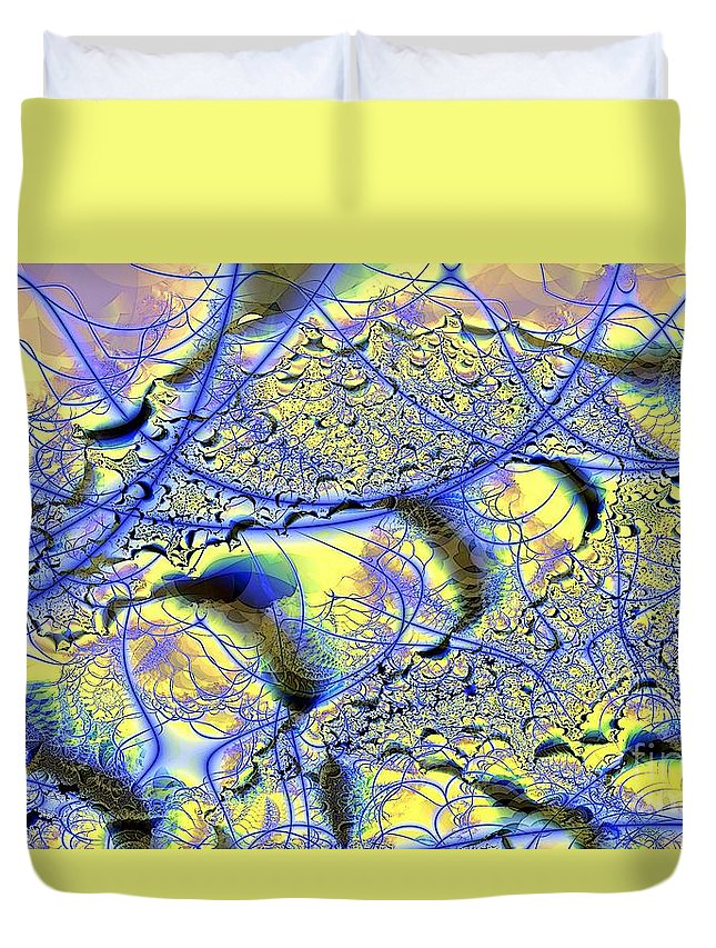 Fractal Duvet Cover featuring the digital art Veins to Lace by Ron Bissett
