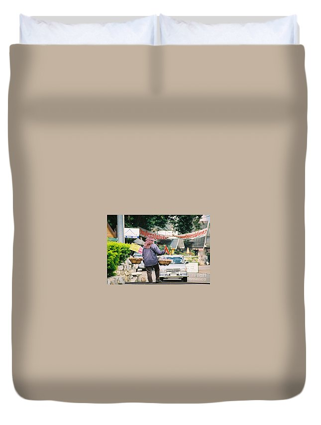Sales Duvet Cover featuring the photograph Vendor by Mary Rogers