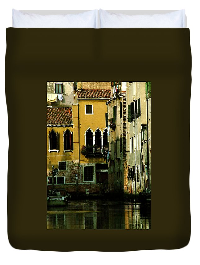 Venice Duvet Cover featuring the photograph Venetian Gold by Donna Corless