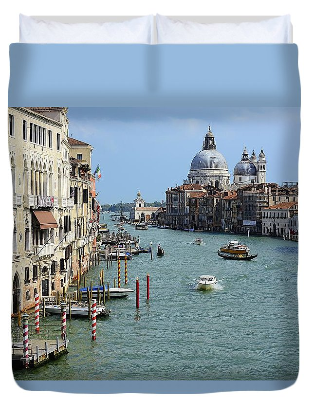 Venice Duvet Cover featuring the photograph Venice #9 by Clyn Robinson
