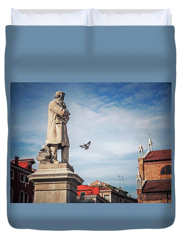 Venice Duvet Cover featuring the photograph Venice - Campo Santo Stefano by Alexander Voss