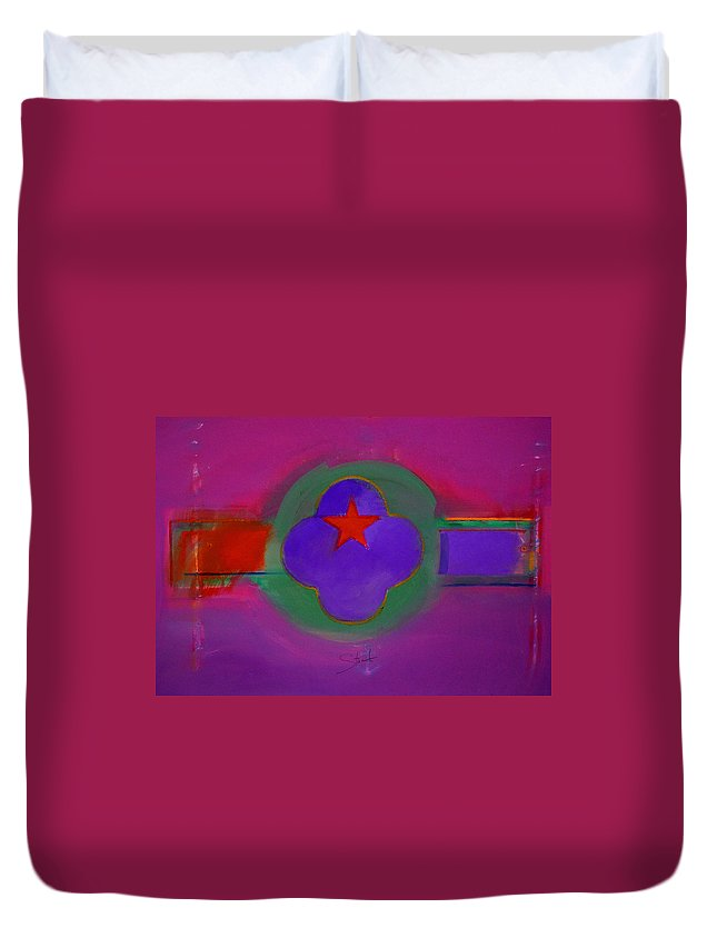 Star Duvet Cover featuring the painting Venice Spiritual by Charles Stuart