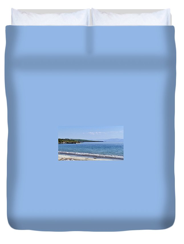 Irish Duvet Cover featuring the photograph Ventry Harbor On The Dingle Peninsula Ireland by Teresa Mucha