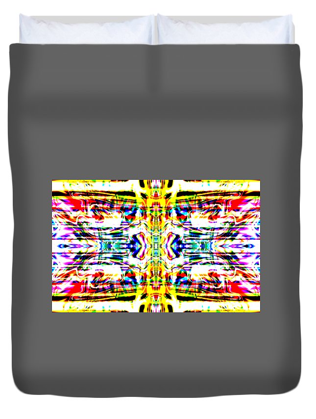 Abstract Duvet Cover featuring the digital art Vergeis by Blind Ape Art