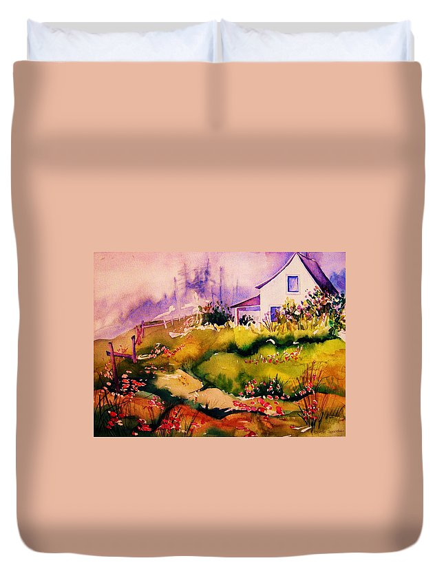 Cottagescenes Duvet Cover featuring the painting Vermont Summers by Carole Spandau