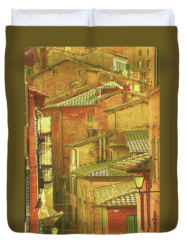 Landscape Duvet Cover featuring the photograph Verona by Joe Costello
