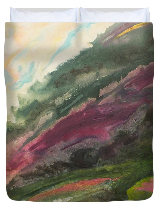 Tendresse Duvet Cover featuring the painting Vers La Tendresse by Marc Dmytryshyn