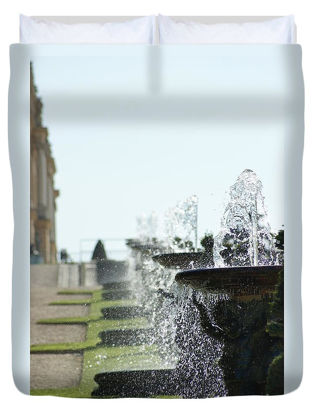 Versailles Duvet Cover featuring the photograph Versailles Fountains by Christine Jepsen