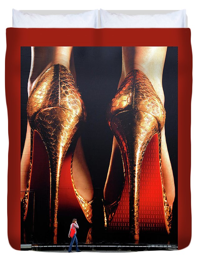 Stan Lipski Photography Duvet Cover featuring the photograph Very High Heels by Stan Lipski