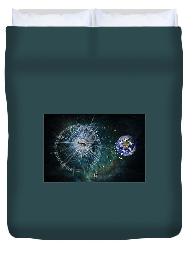 Duvet Cover featuring the photograph Vespora by Janet Giles