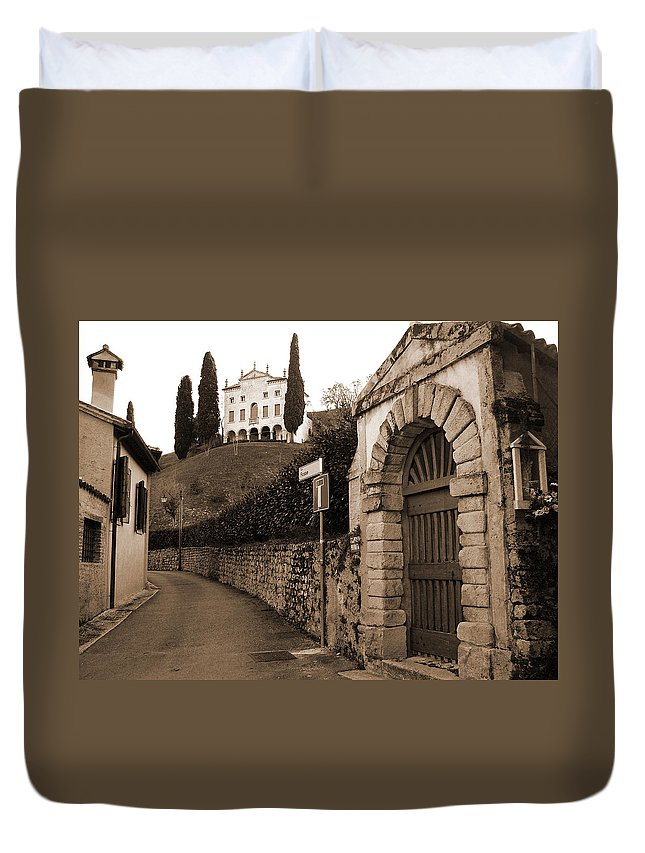 Via Fosse Duvet Cover featuring the photograph Via Fosse by Donna Corless