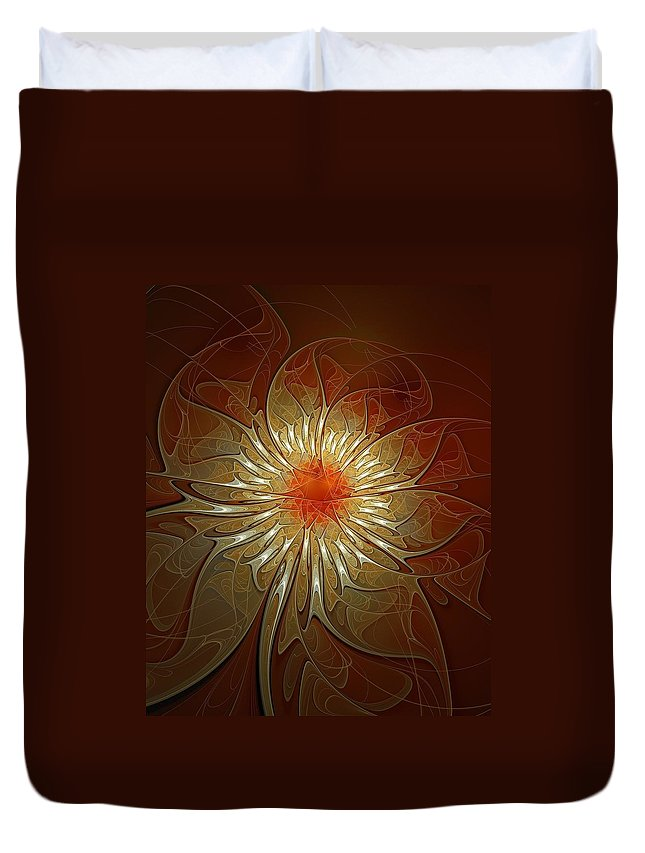 Digital Art Duvet Cover featuring the digital art Vibrance by Amanda Moore