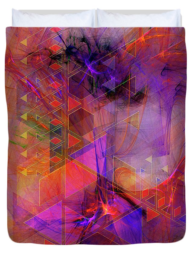 Vibrant Echoes Duvet Cover featuring the digital art Vibrant Echoes by John Beck