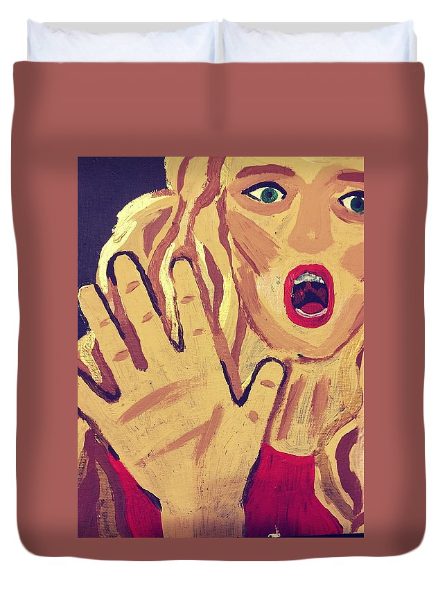 Duvet Cover featuring the painting Victim by Patricia Snoderly