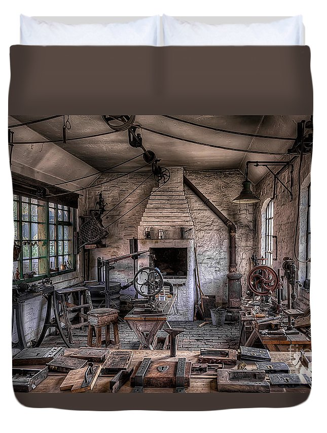 Architecture Duvet Cover featuring the photograph Victorian Locksmith by Adrian Evans