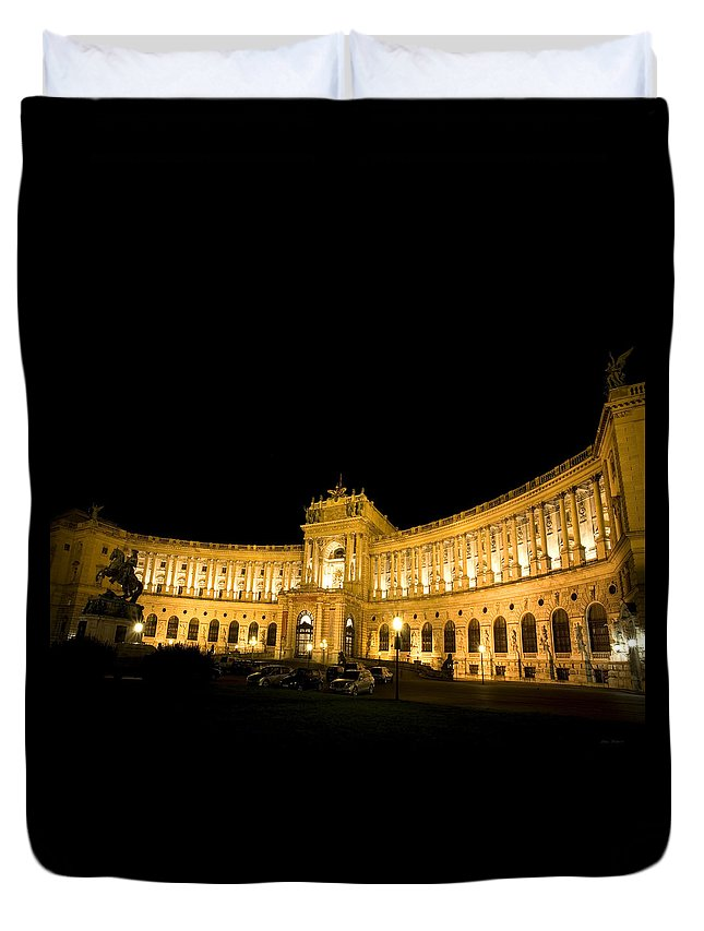 Vienna Duvet Cover featuring the photograph Vienna National Library by Julian Wicksteed