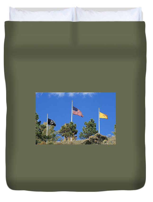 Monuments Duvet Cover featuring the photograph Vietnam Memorial Angel Fire New Mexico by Judithann O'Toole