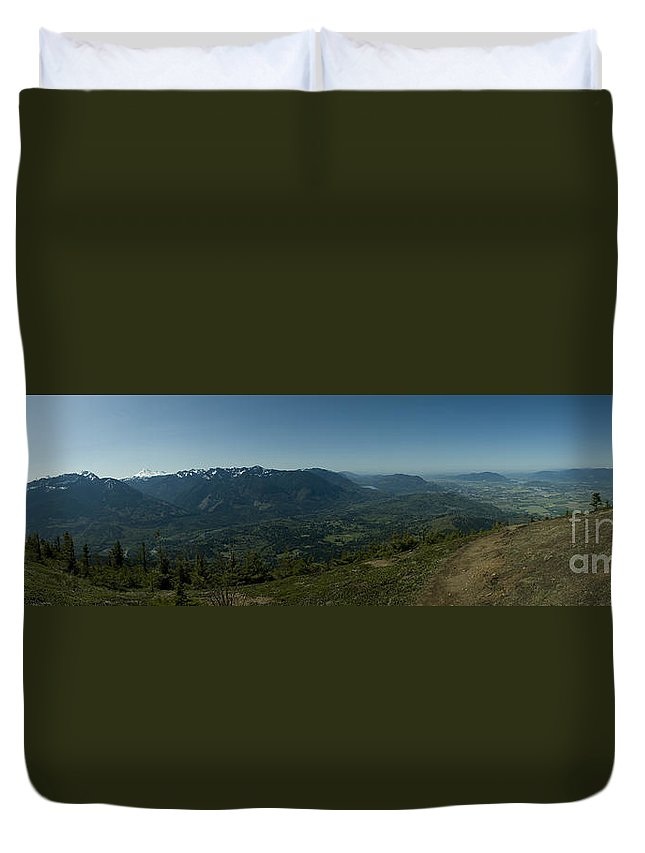 Elk Mountain Duvet Cover featuring the photograph View From Elk Mountain by Rod Wiens