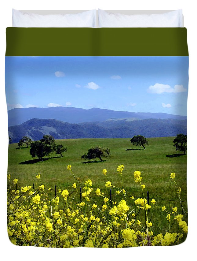 Wild Flowers Duvet Cover featuring the photograph View From Highway 154 by Kurt Van Wagner