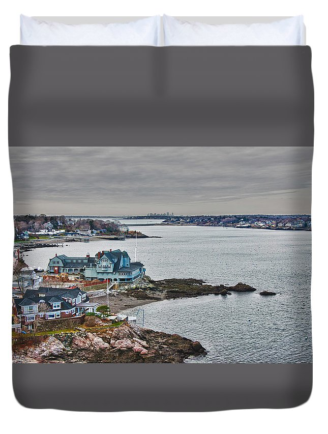 #jefffolger Duvet Cover featuring the photograph View From Marblehead Lighthouse by Jeff Folger