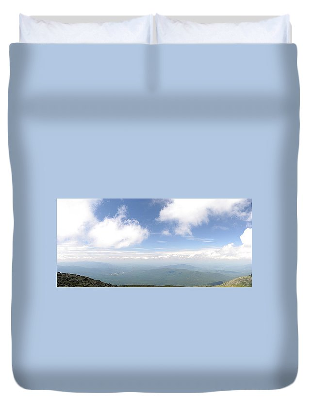Mount Washington Duvet Cover featuring the photograph View From Mount Washington 1 by David Goodwin