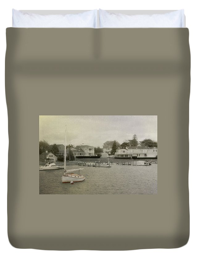 Nantucket Duvet Cover featuring the photograph View From The Ferry by JAMART Photography