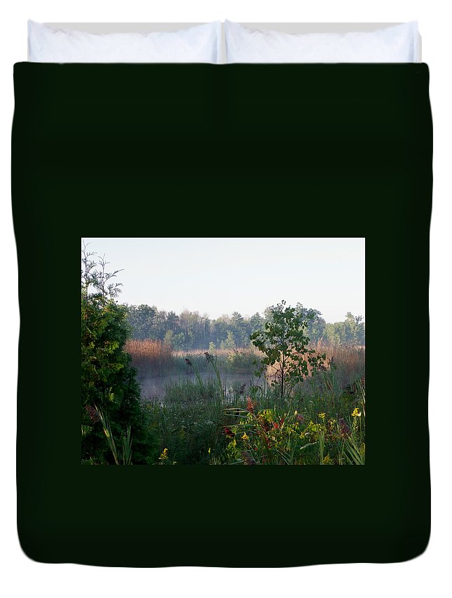 Nature Duvet Cover featuring the photograph View From The Path by Peggy King