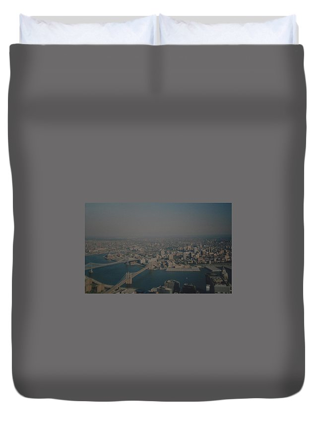 Wtc Duvet Cover featuring the photograph View From The W T C by Rob Hans