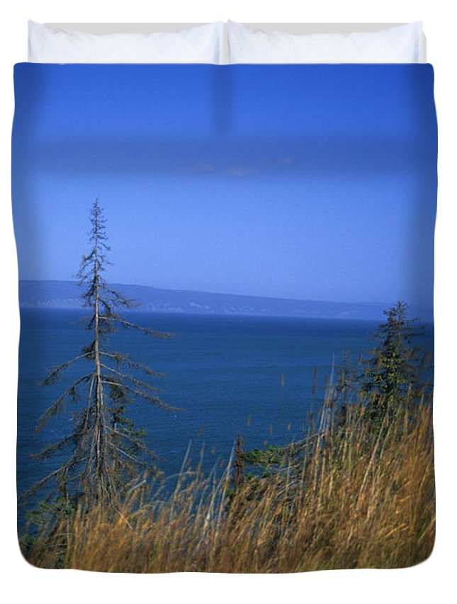 Kachemak Bay Duvet Cover featuring the photograph View Of Kachemak Bay, Alaska by Stacy Gold