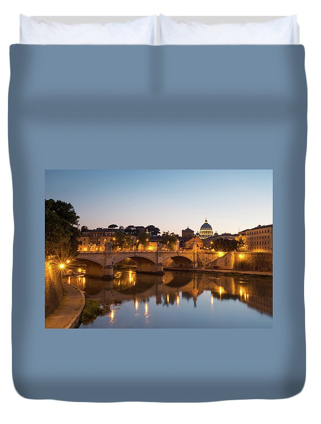 Rome Duvet Cover featuring the photograph View Of Rome by Rob Davies