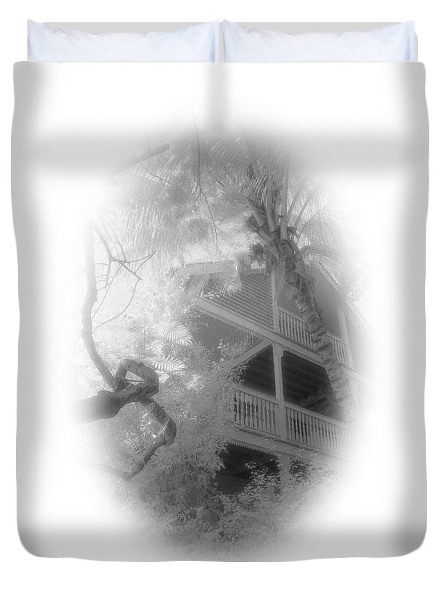Balcony Duvet Cover featuring the photograph View Of The Balcony by Richard Rizzo