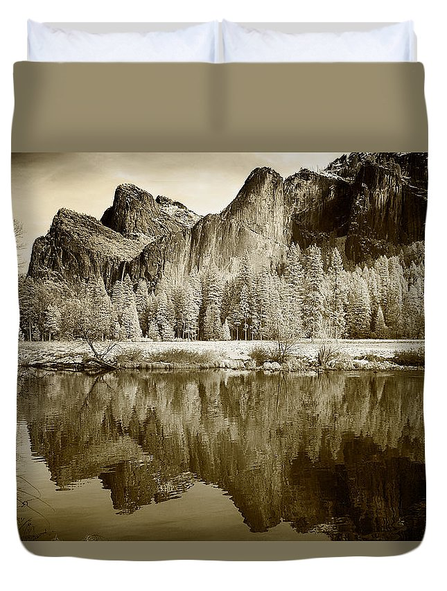 Yosemite Duvet Cover featuring the photograph View Of Yosemite by American School