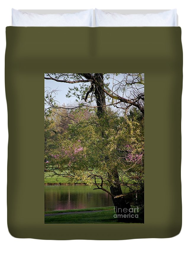 Landscape Duvet Cover featuring the photograph View Out My Office Window. by David Lane
